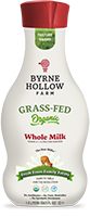 organic grass fed milk grass fed whole milk example from byrne hollow farm
