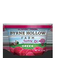 fat free greek yogurt raspberry fruit on the bottom from byrne hollow farm