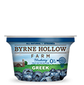 greek yogurt blueberry fruit on the bottom from byrne hollow farm