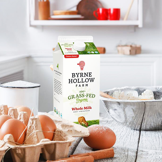 Organic Grass Fed Milk near NY State from Byrne Hollow Farm - Organic Grass Fed Milk near New York NY State