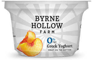 Peach Greek Yoghurt from Byrne Hallow Farm - Greek Yoghurt